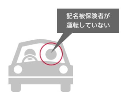 記名保険者が運転してないと免責となります。ただし人身傷害保険及び搭乗者傷害特約(一時金払)は借りたお車に搭乗中の方が対象となります。
